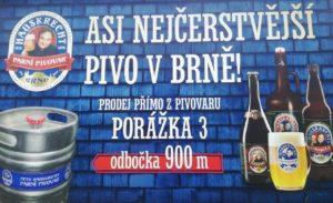 Asi nejčerstvější pivo v Brně