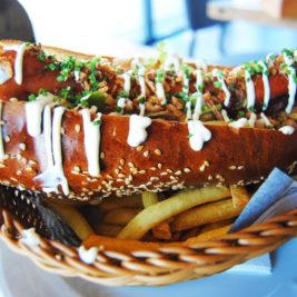 Käsekrainer hotdog