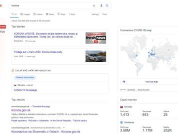 Korona vírus Google